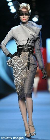 Geometric design. John Galliano for Christian Dior...