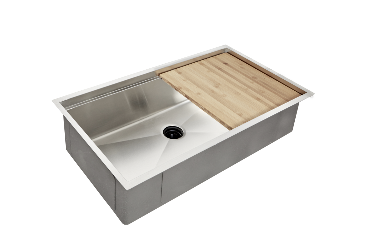 Best 33 Ledge Sink 8 Depth Single Bowl Center Drain 640 x 480