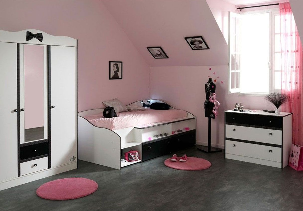 chambre de fille ado swag recherche google chambre. Black Bedroom Furniture Sets. Home Design Ideas