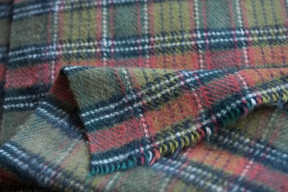 Plaid Flannel Fabric By The Yard Heavyweight Thick Flannelette Cotton Fabric Shirting Cotton Winter Fabric Plaid Flannel Fabric Fabric Flannel Fabric