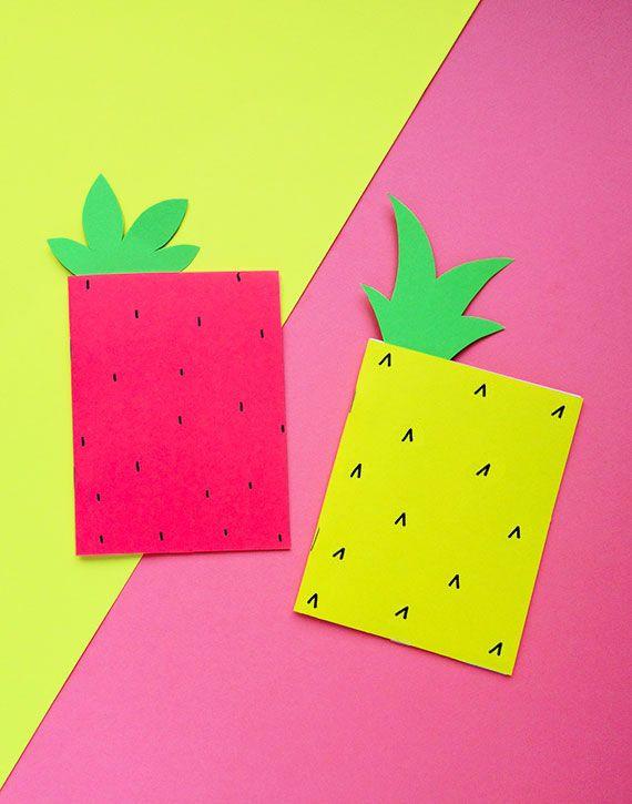 Diy Fruit Notebooks Diy Notebook Diy School Supplies Diy