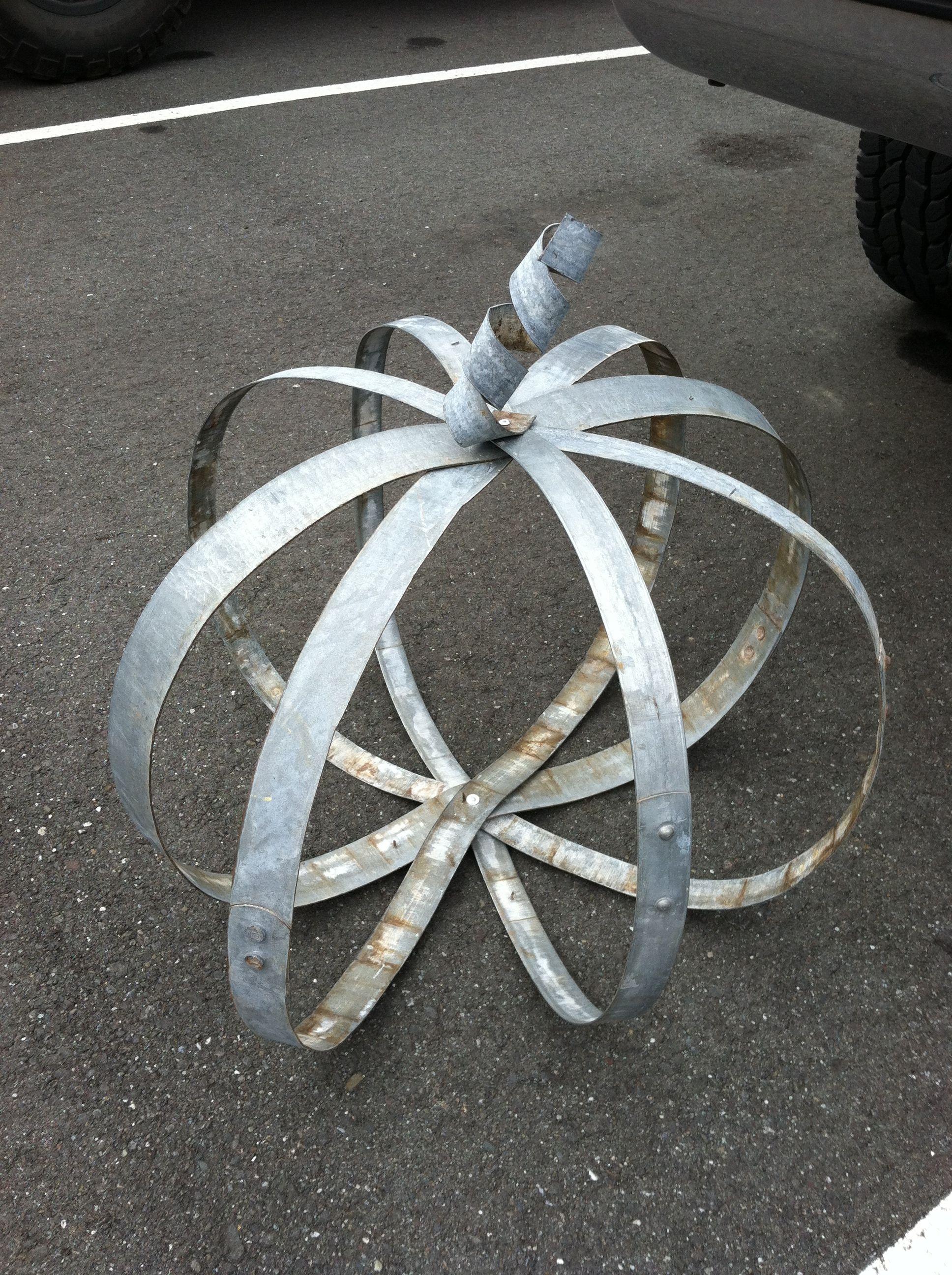 Metal Rings From Wine Barrels