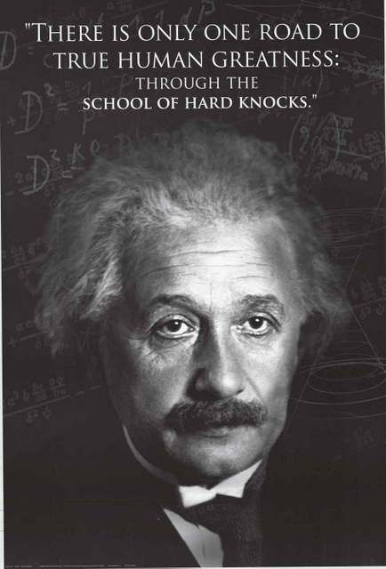 Albert Einstein Hard Knocks Quote Poster 24x36