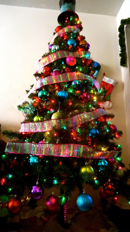 Multicolor Christmas Tree Colorful ChristmasTree Beautiful ...