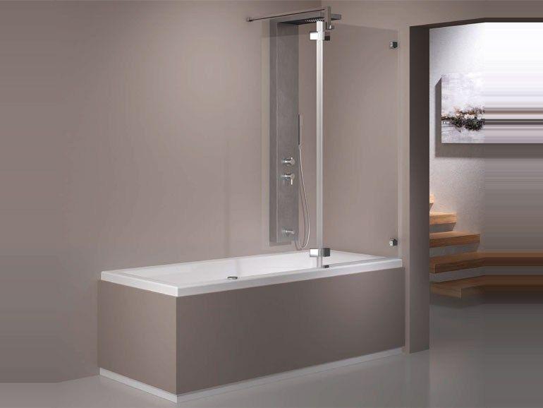 vasca da bagno idromassaggio rettangolare con doccia combilight easy 177178188 by grandform