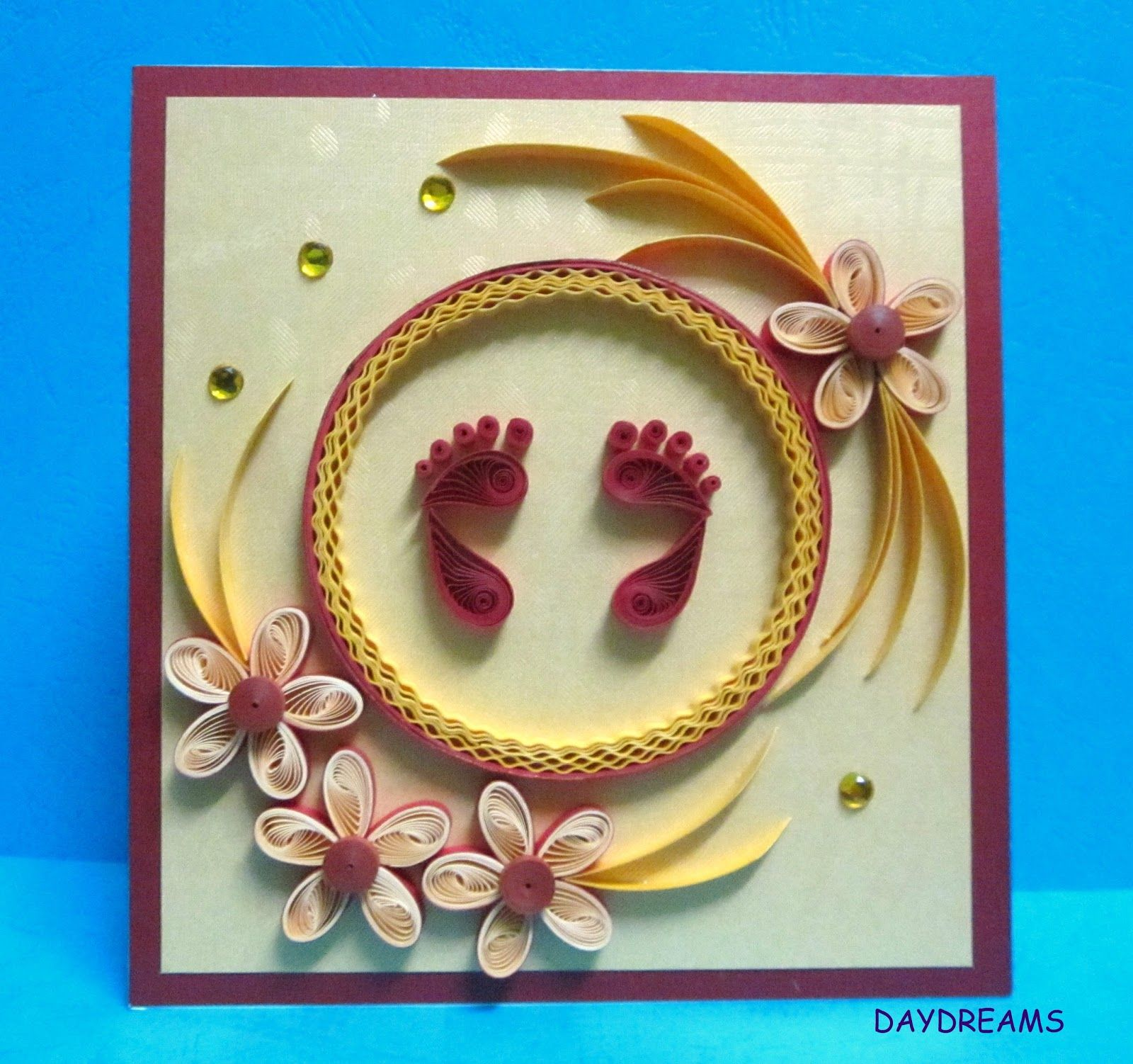 DAYDREAMS Quilled baby shower card baby Pinterest
