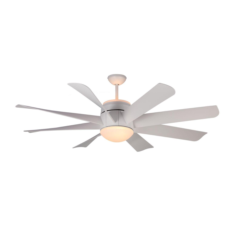 Monte Carlo Turbine Rubberized White 56 inch Ceiling Fan 56