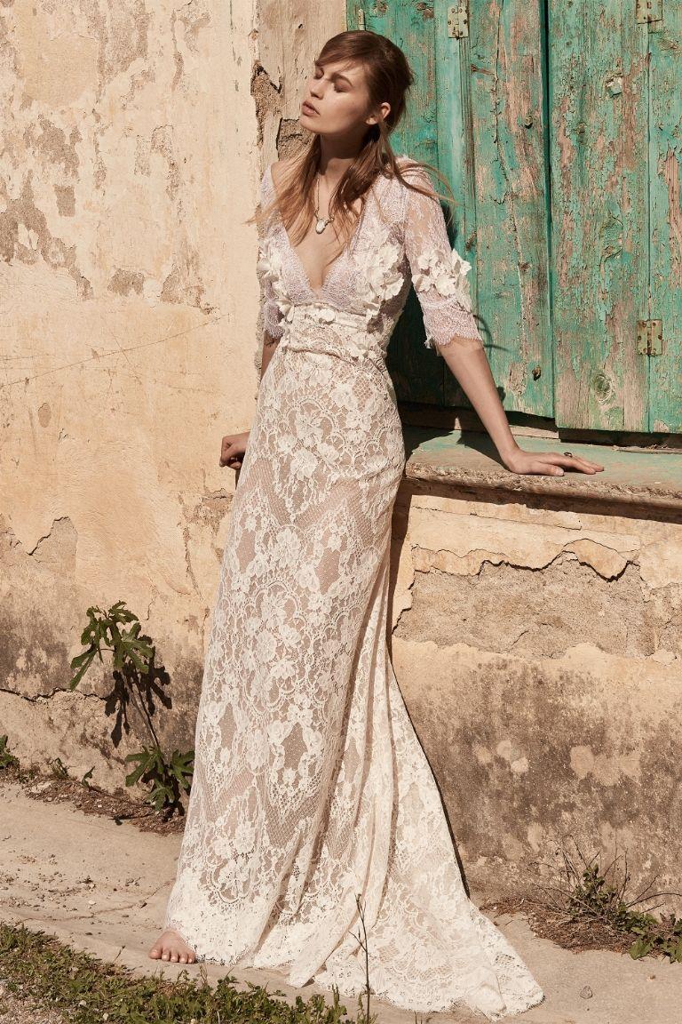 V neck wedding dress hippie bride wedding dress and dress ideas