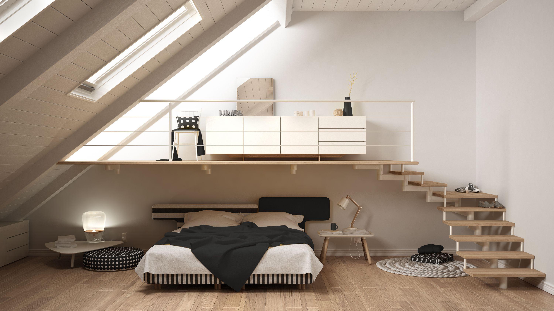 Beautiful Mezzanine Bedroom In Light And Airy Loft Conversion
