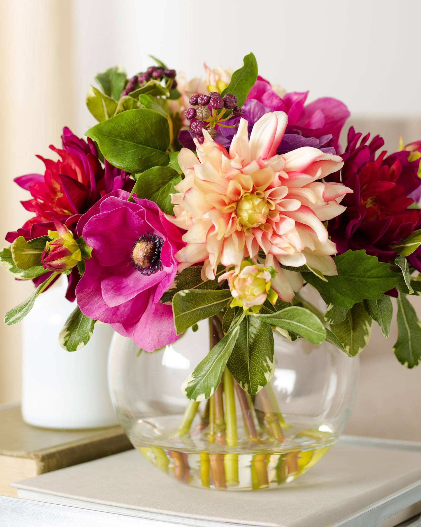 Dahlia Mixed Flower Arrangement embodies the boundless joy of spring ...