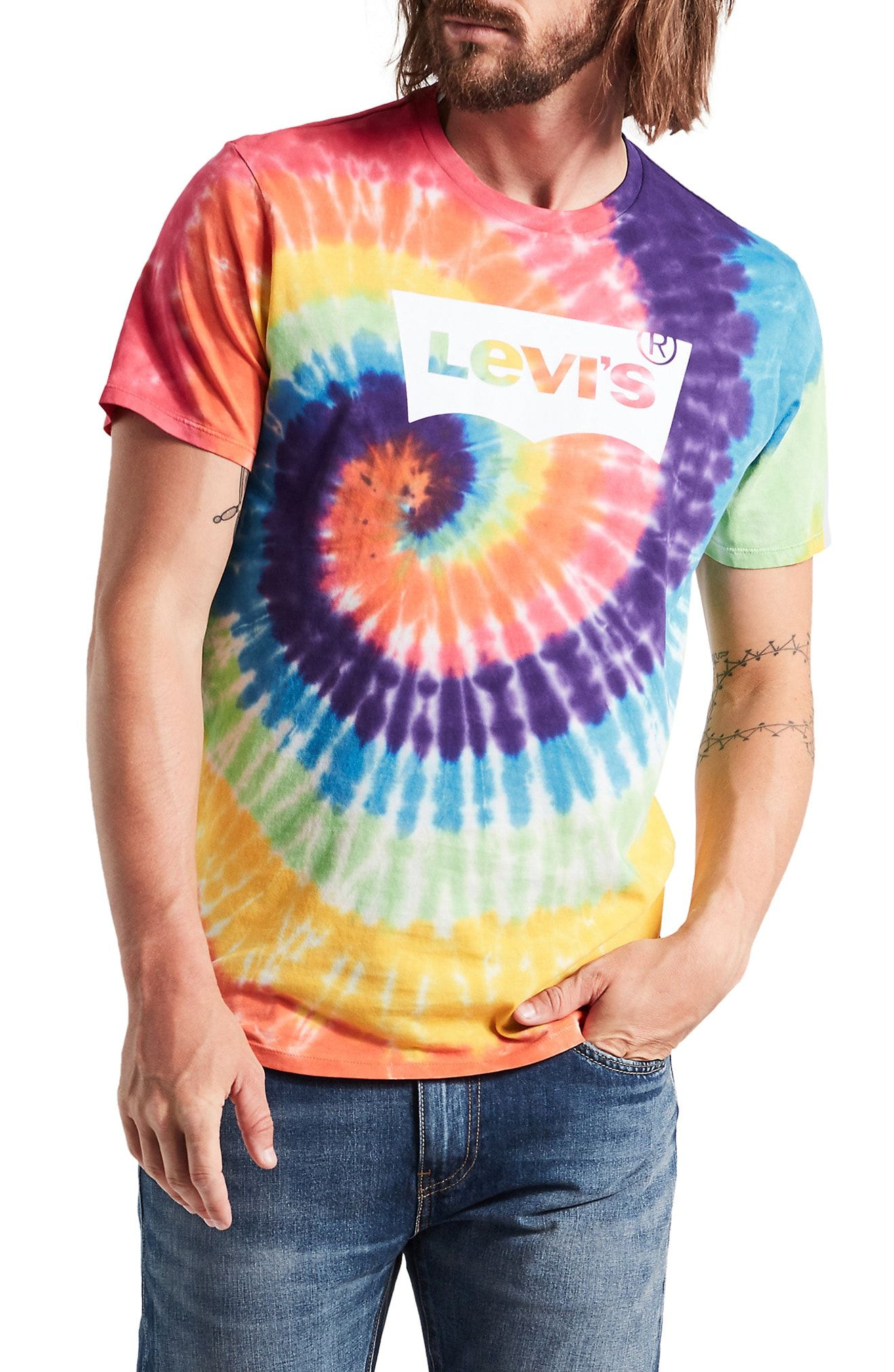 new style 2dcb7 e5a09 LEVI'S TIE DYE LOGO T-SHIRT. #levis #cloth | Levi'S in 2019 ...