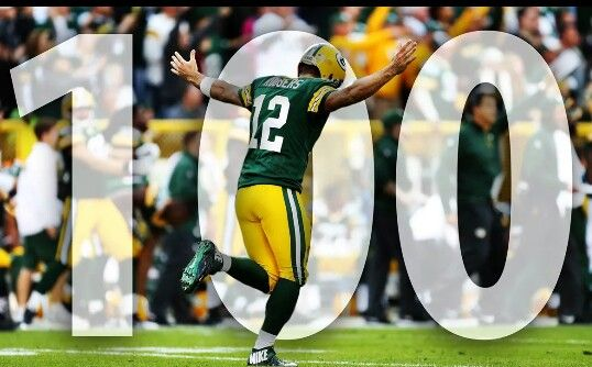 Aaron Rodgers His 100th Game 10 12 14 With A Win Over Miami Green Bay Packers Fans Green Bay Packers Baby Green Bay Packers Football