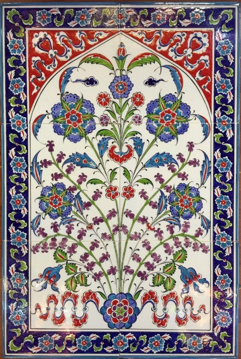 40x60cm hiding hyacinth iznik art ceramic tile panel tile iznik tile mural dailygadgetfo Images