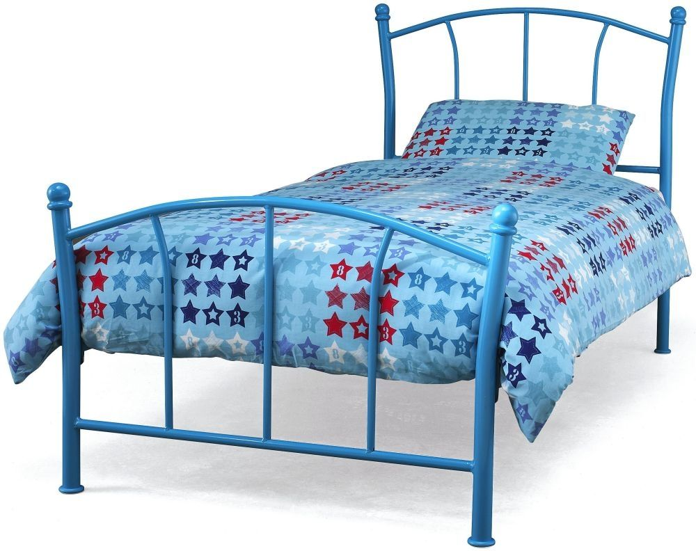 Serene Penny 3ft Blue Metal Bed Bed Frame Childrens Beds Metal
