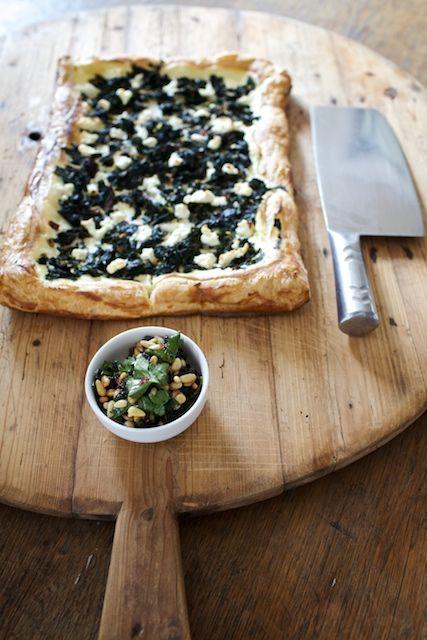 Warm Chevre & Swiss Chard Tart...will probably substitute fresh ricotta or fresh mozzarella for chèvre.