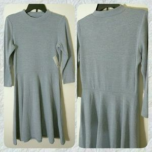 I just added this to my closet on Poshmark: Grey sweater dress. Price: $20 Size: L