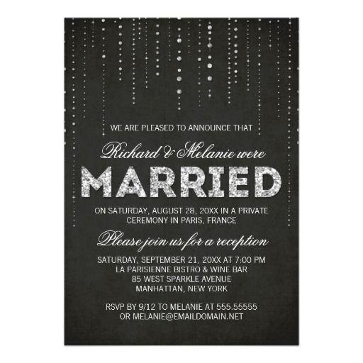 glitter look wedding reception only invitation | i do | pinterest,