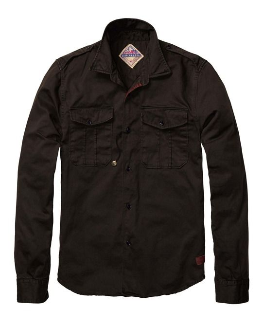 Washed Heavy Twill Worker Shirt