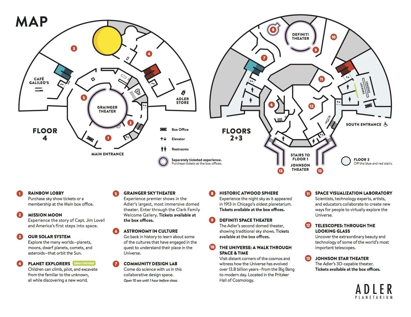 Adler Planetarium Map