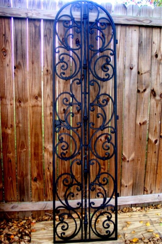 Iron Wine Cellar Door Or Garden Gate Tuscany Styled Tuscan