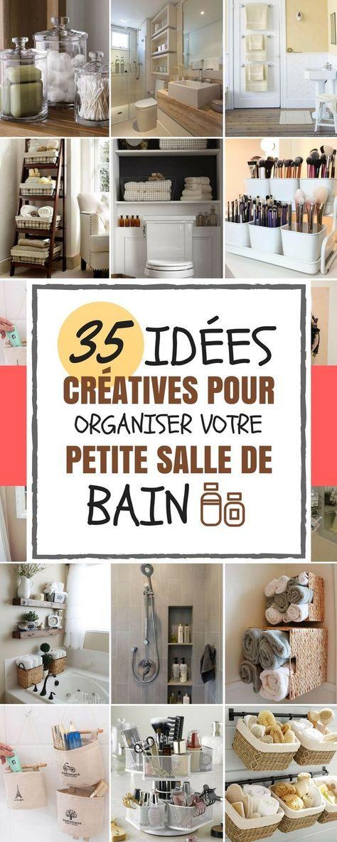 35 id es cr atives pour organiser sa petite salle de bain en 2018 organisation pinterest. Black Bedroom Furniture Sets. Home Design Ideas