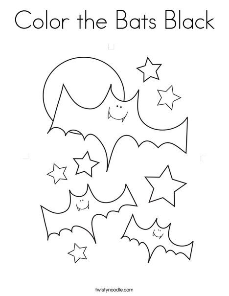 Color the Bats Black Coloring Page | Bats | Pinterest | Imprimibles