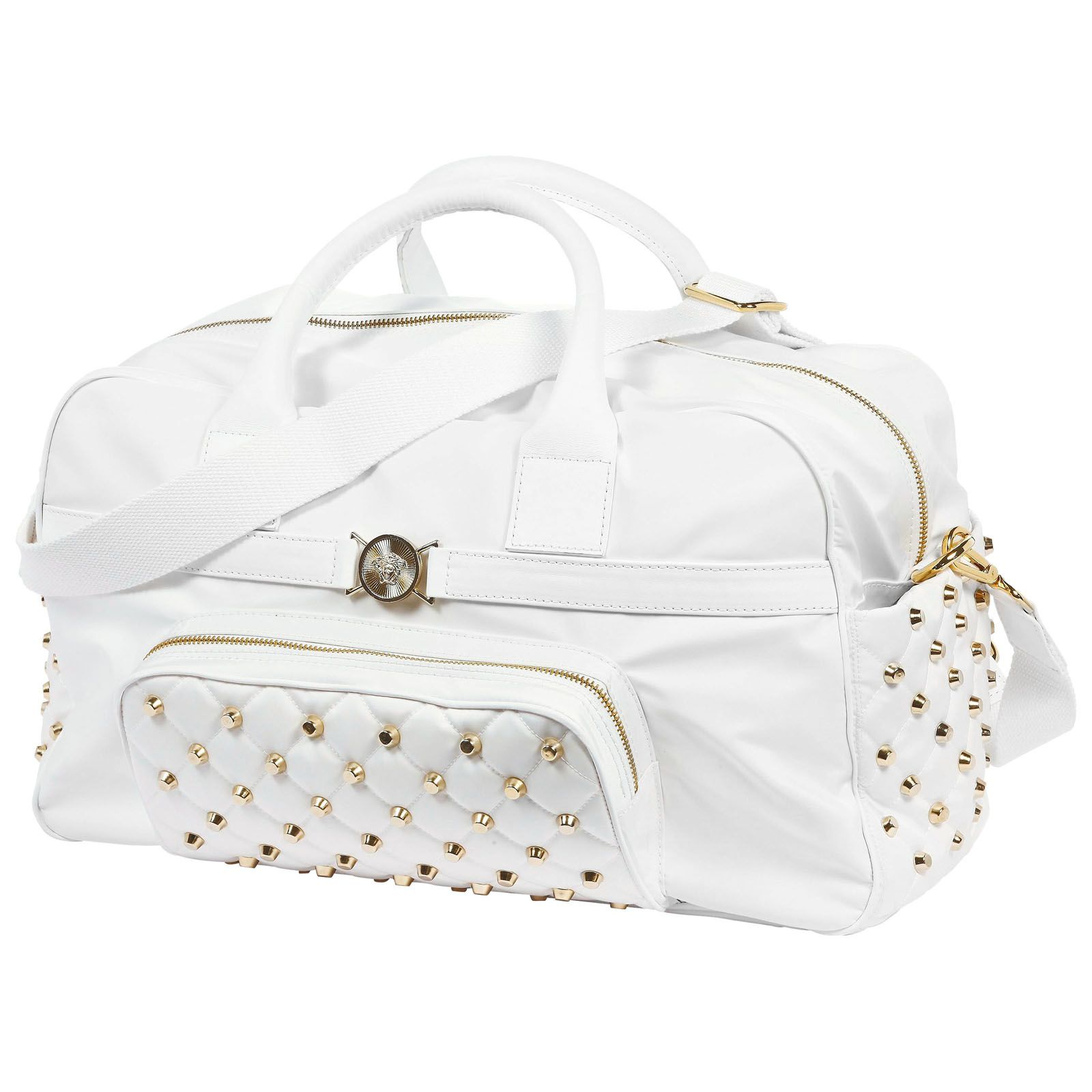 Nappy bag: Young Versace White imitation leather travel bag ...