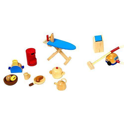 Wonderful Goki 51939   Accessoires Küche, 19 Teilig, Puppenhausmöbel