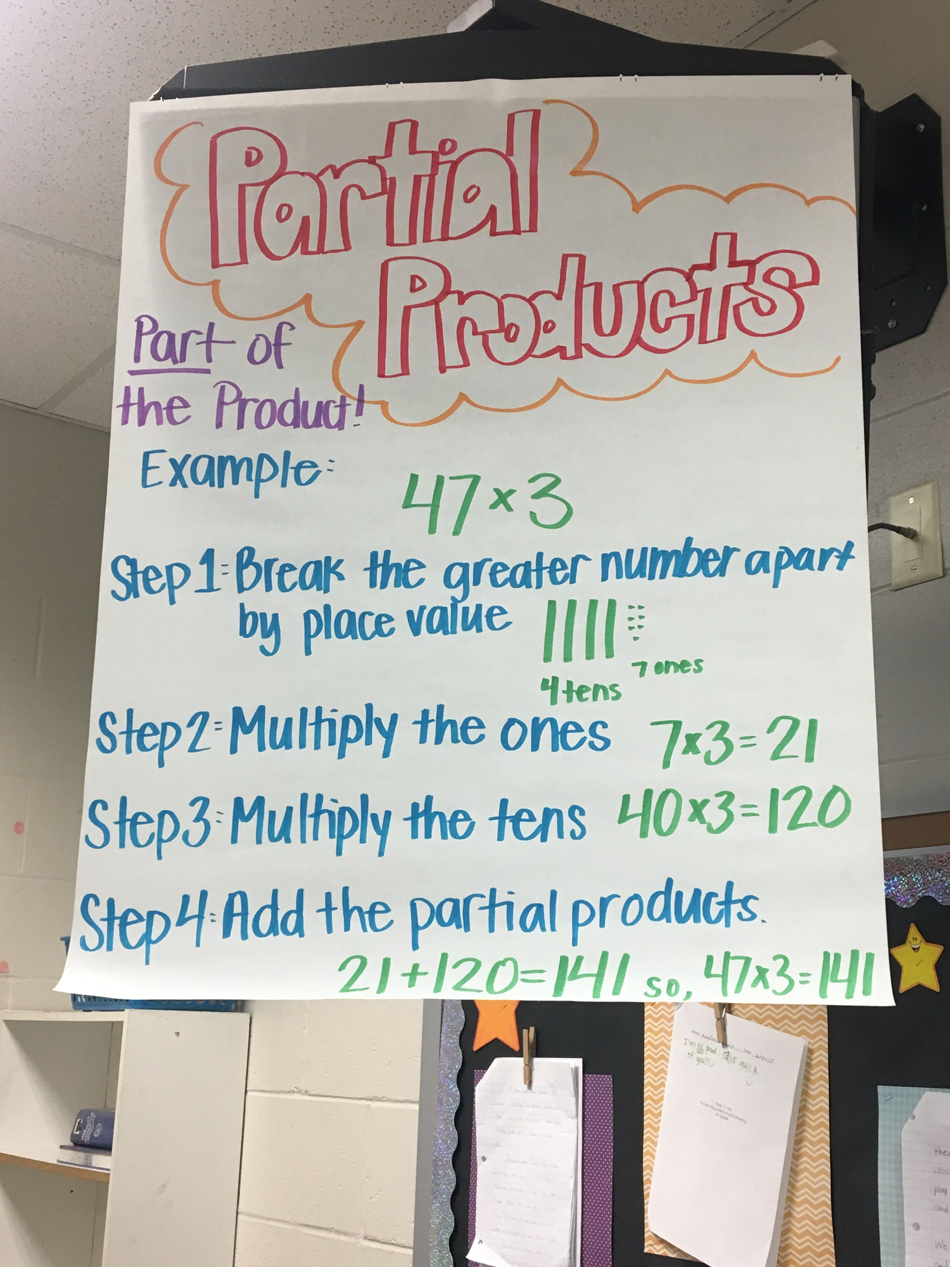 Partial Products Fourth Grade Math Math Anchor Charts Classroom Anchor Charts