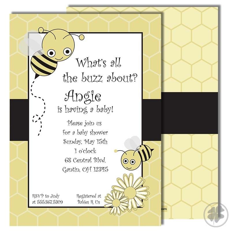 Bumble Bee Baby Shower Invitation Template $8 Get everyone talking - get together invitation template