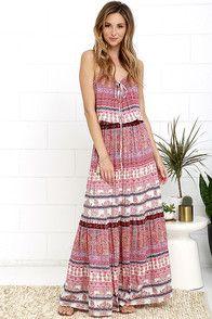 e5f2c4152f7052 Sandy Coast Lavender Print Maxi Dress in 2019 | Sundresses | Floral ...