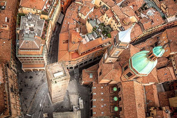 Picture of Bologna largest city of the Emilia-Romagna Region in Italy