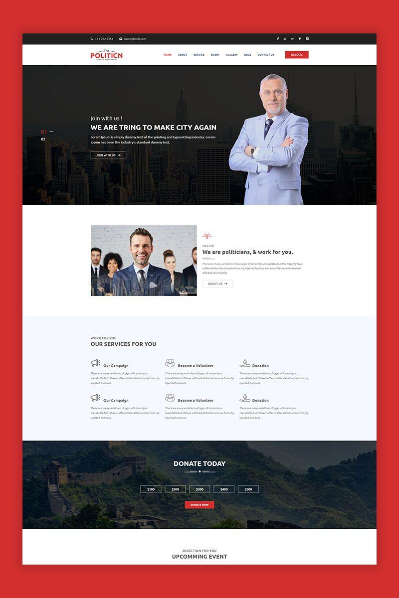 The Politicn Political Website Template Political Websites