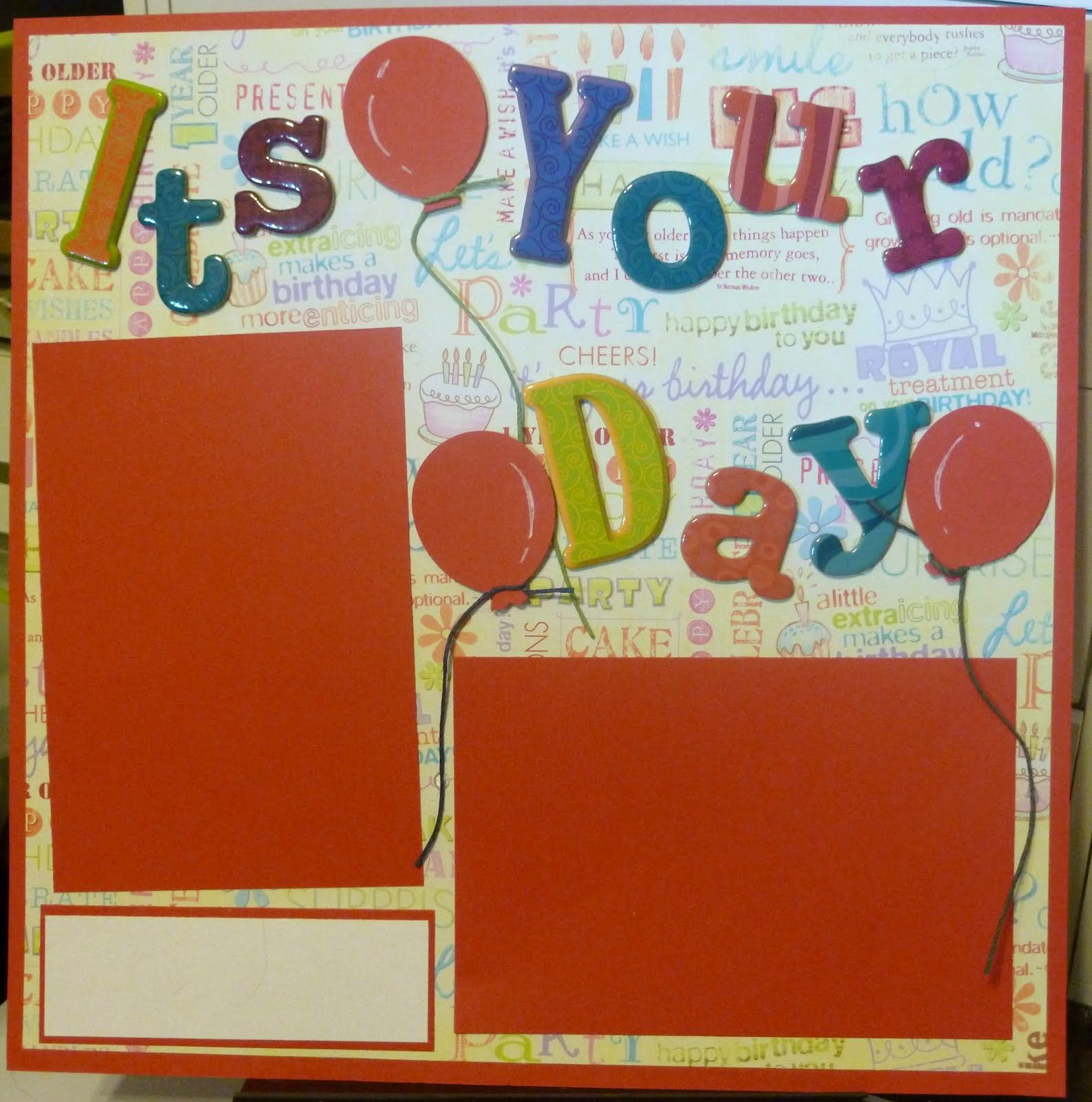 Birthday Scrapbook Layouts