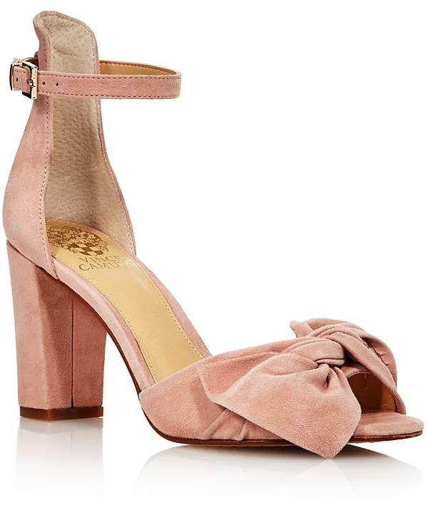 b0f9684ec8f0 VINCE CAMUTO Women s Carrelen Suede Bow Block Heel Sandals - 100% Exclusive