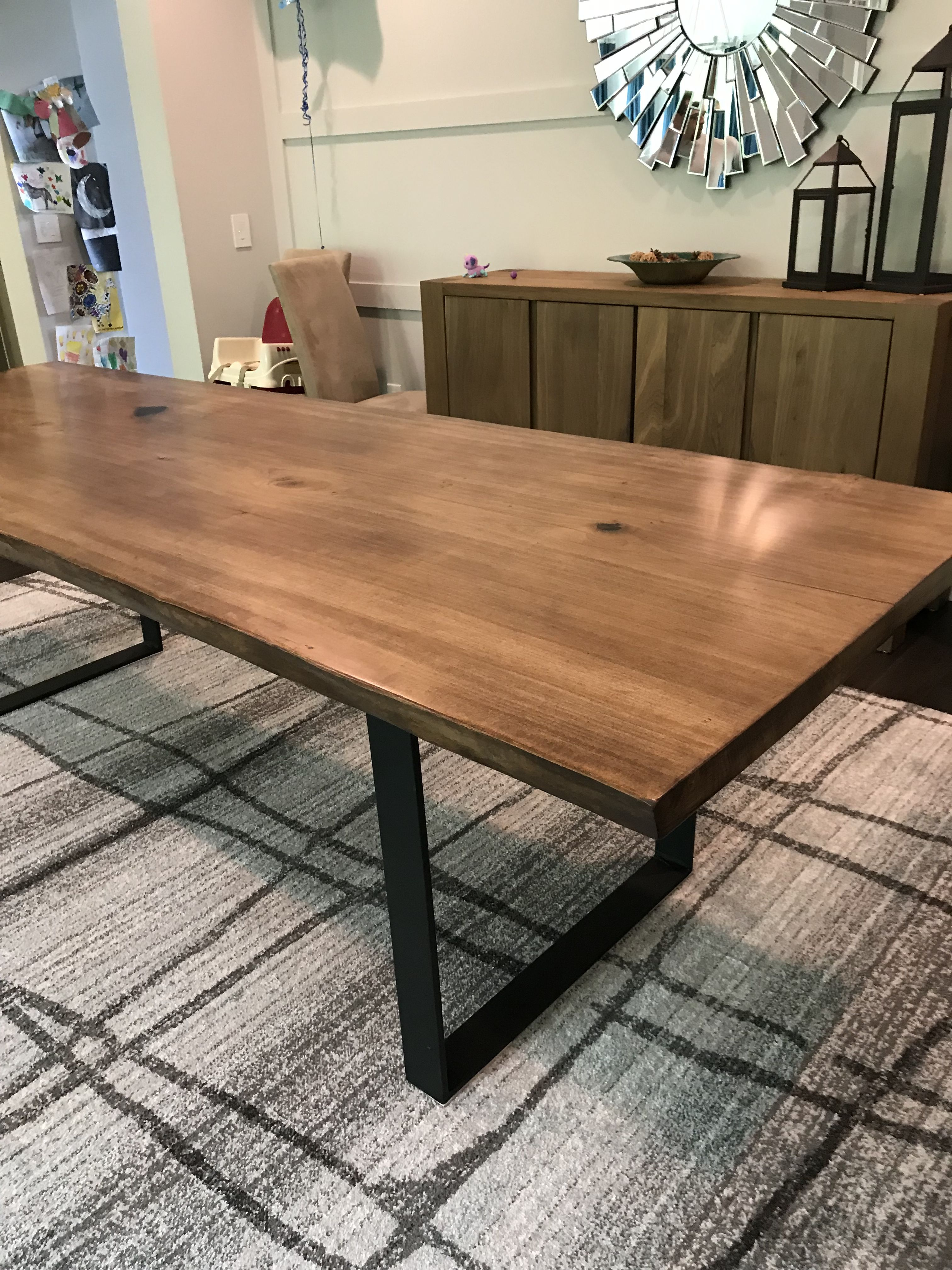 Loved Making This Table Poplar With Special Walnut Stain Clear