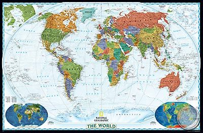 The World - Decorator, politisch, Großformat (Englisch) (NG)