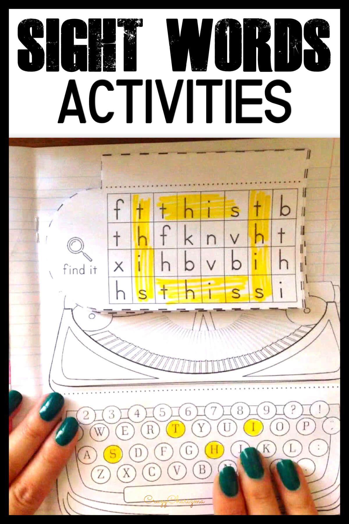Sight Word Activities Kindergarten