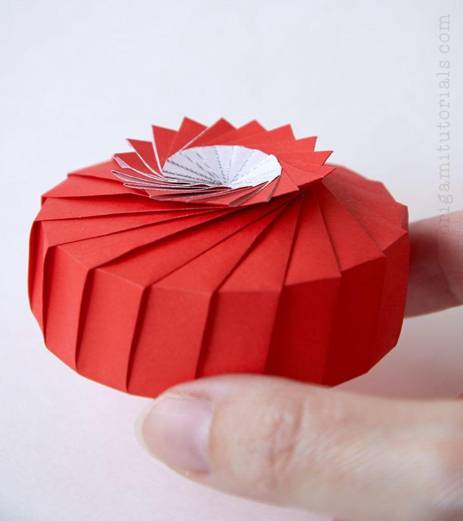 Lily Pad Origami Box Origami Tutorials Fabric Origami Origami Tutorial Origami Box