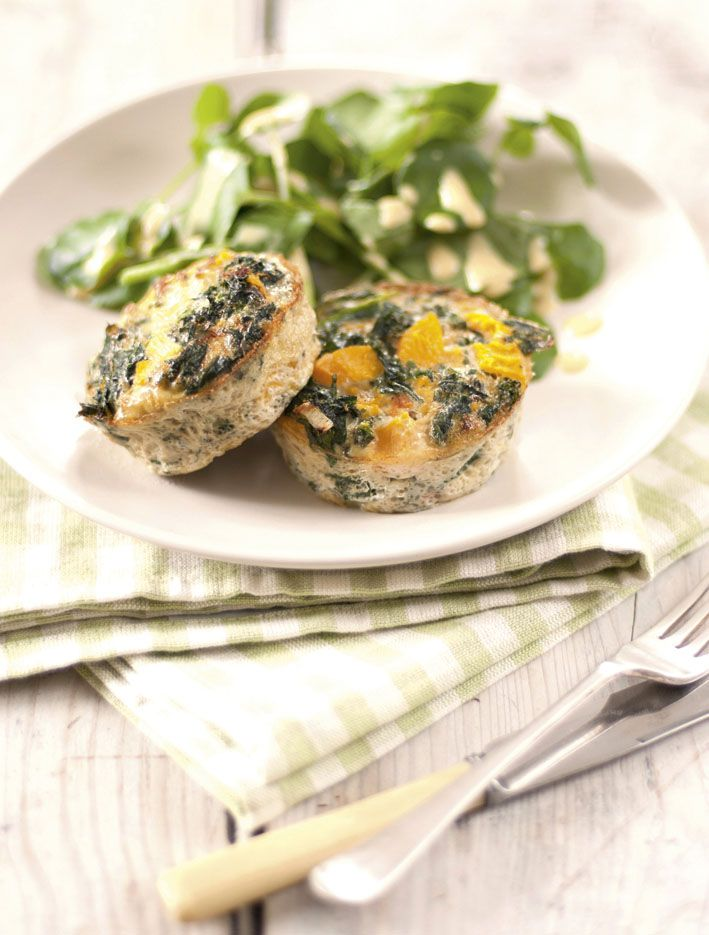 Lighter Life - Kale and Squash frittata