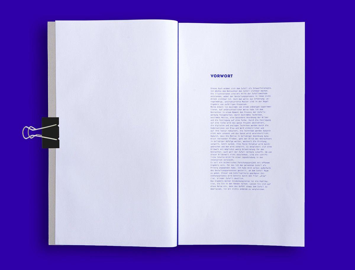 Alea Lat Zufall Editorial Design Design Layout