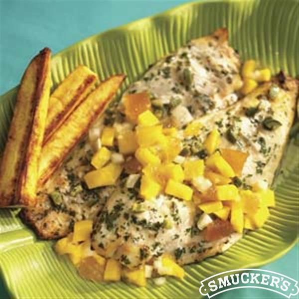 Grilled Spicy Red Snapper With Jamaican Mango Salsa