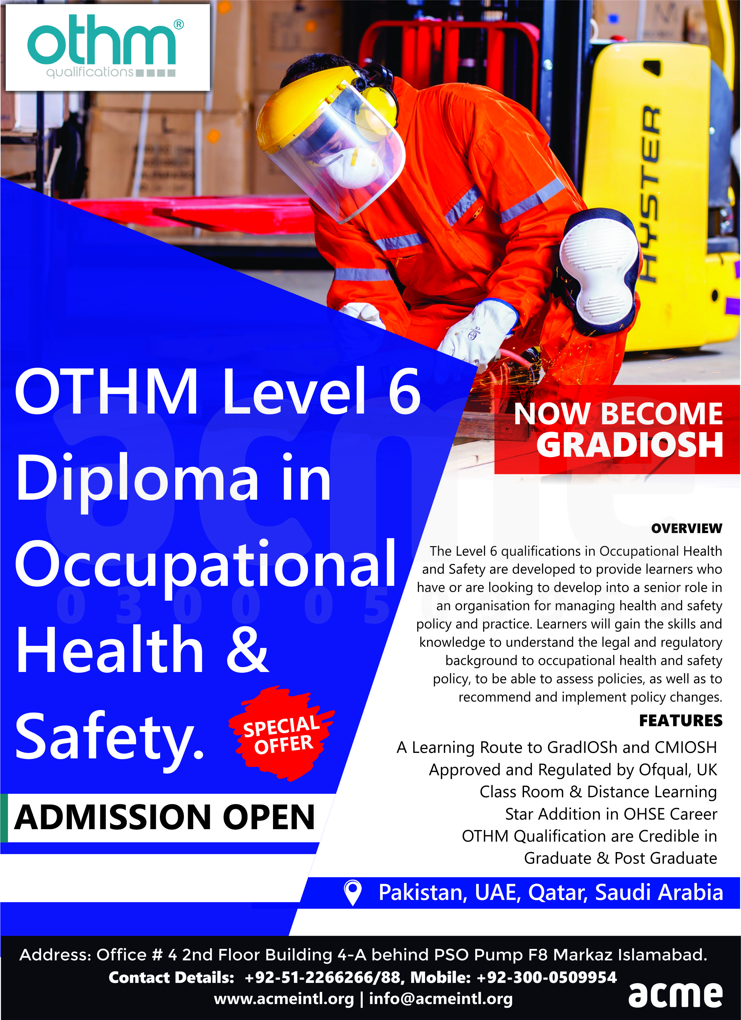 Diploma in Occupational Health & Safety in 2020