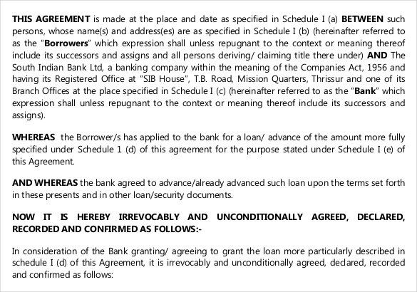 Personal Loan Contract Free Template , 26+ Great Loan Agreement Template , Loan  Agreement Template Is Needed As References On What To Do To Make A Clear  And ...
