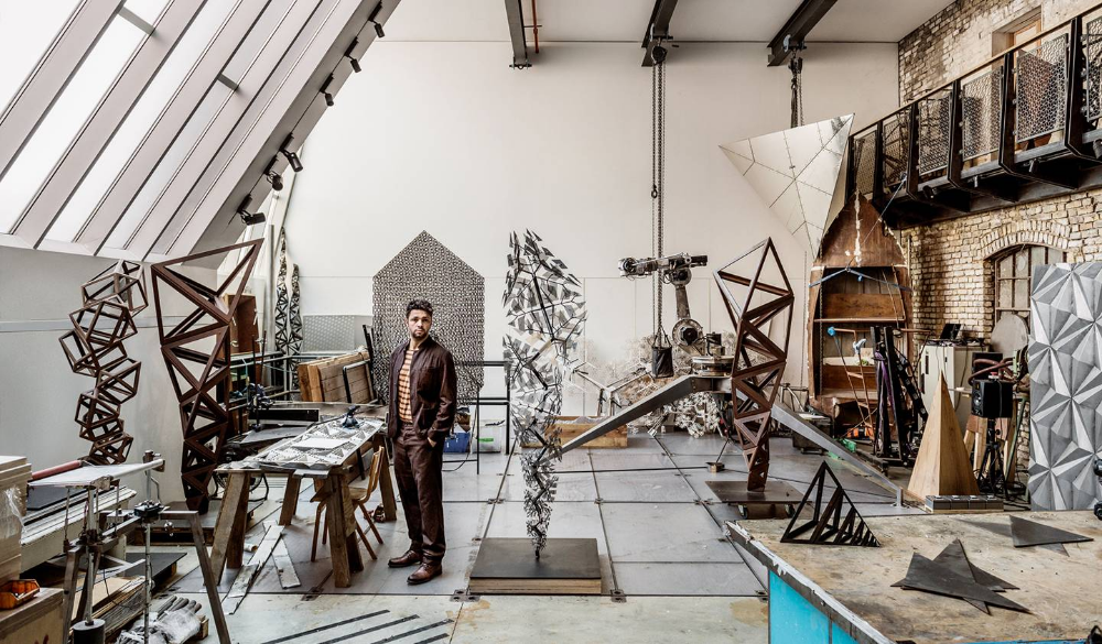 The extraordinary studio of artist Conrad Shawcross