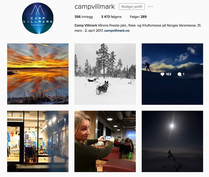 Snart 3500 følgere på Instagram. Følg oss gjerne og del de fine bildene med #campvillmark. #outdoors, #campinggear, #fishinggear, #ClimbingGear