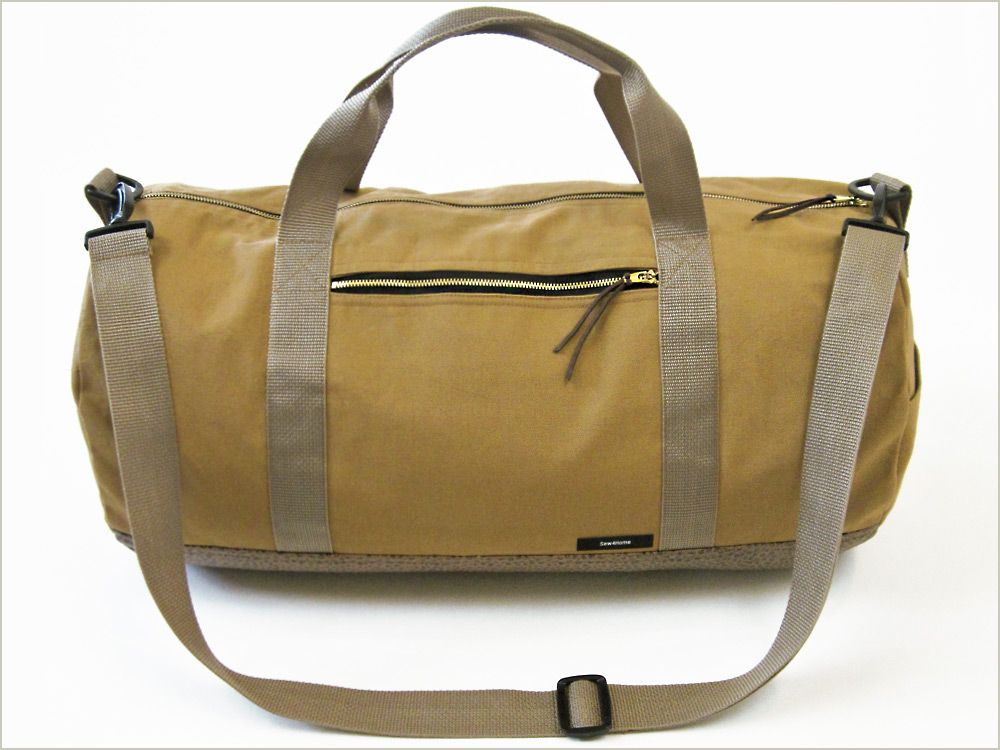 Safari Duffle in Canvas & Faux Leather | Sew4Home | Crafty ...