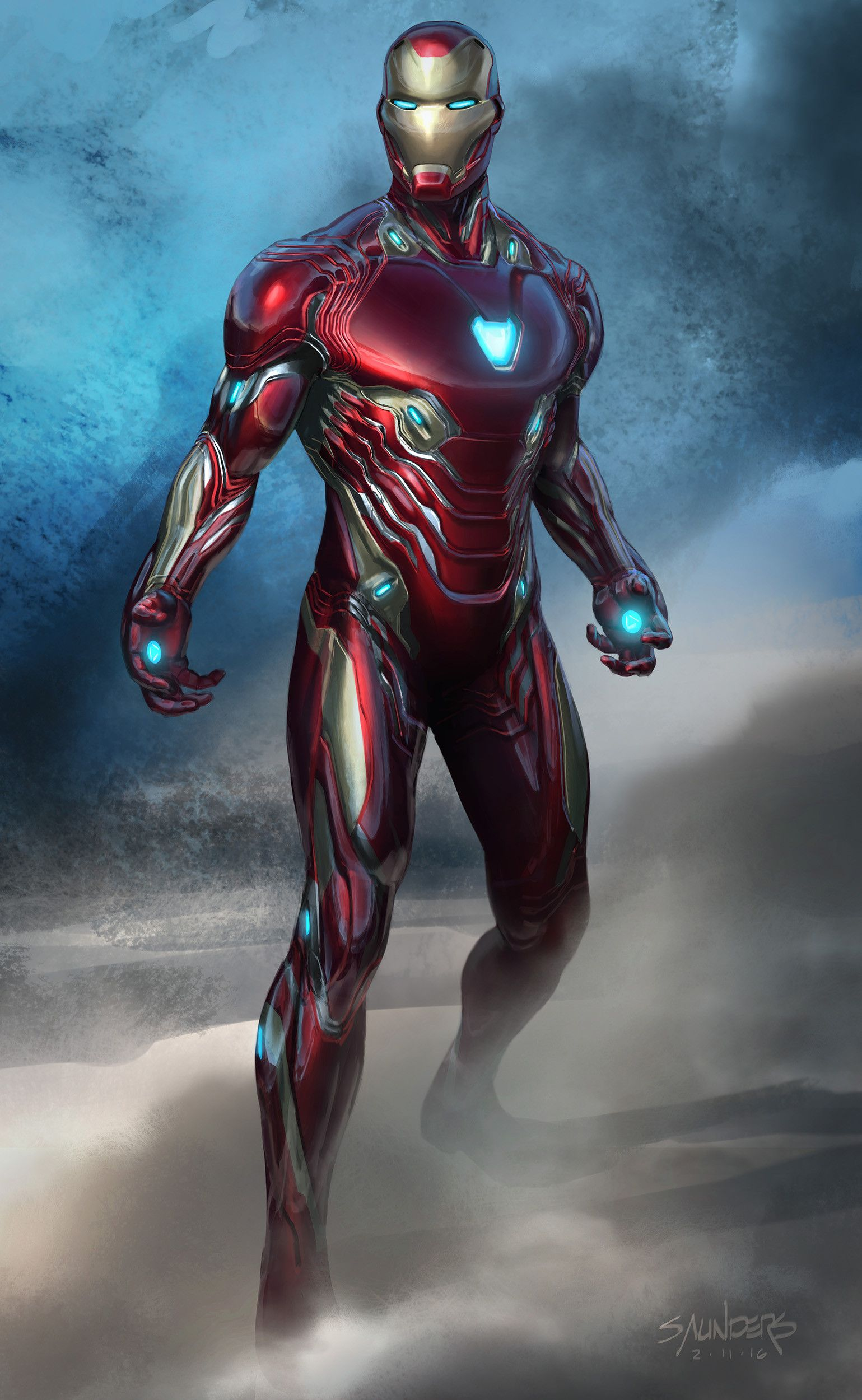Artstation Avengers Infinity War Iron Man Mk50 Original Sketch Phil Saunders Iron Man Movie Iron Man Art Marvel Iron Man