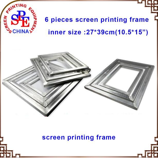 check price aluminum screen frame 6pcs 10 5x15 screen printing ...