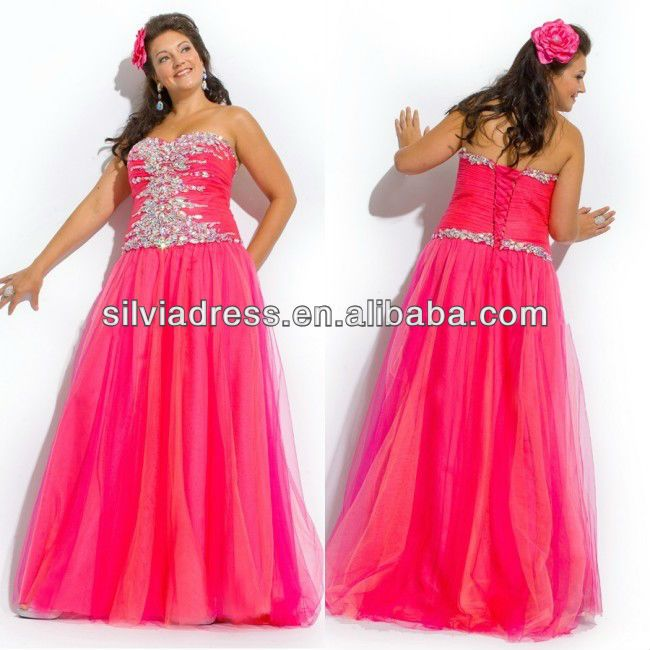 Plus Size Prom Dresses 2 Pices